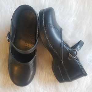 DANSKO Black Clogs Mary Jane Leather Shoes 40